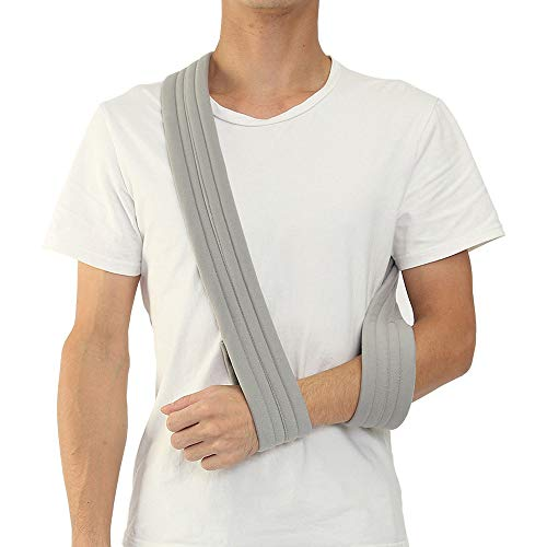 genmine Arm Sling Shoulder Immobilizer Dislocated Medical Sling Adjustable Arm Support Strap for Broken Wrist Elbow Support Comfortable Strap for Men or Women