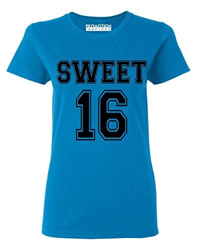 P&B Sweet 16 Birthday Women's T-Shirt, S, Saphire]()