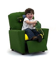 Kidzworld Home Indoor Children John Deere - Green - Boy's Kid's Recliner