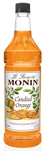 Monin Candied Orange Flavoured Syrup Plastic Bottle 1 Liter ()