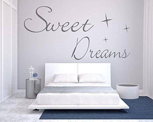 Wandtattoo Schlafzimmer / Kinderzimmer ~ Text: Sweet Dreams mit ...