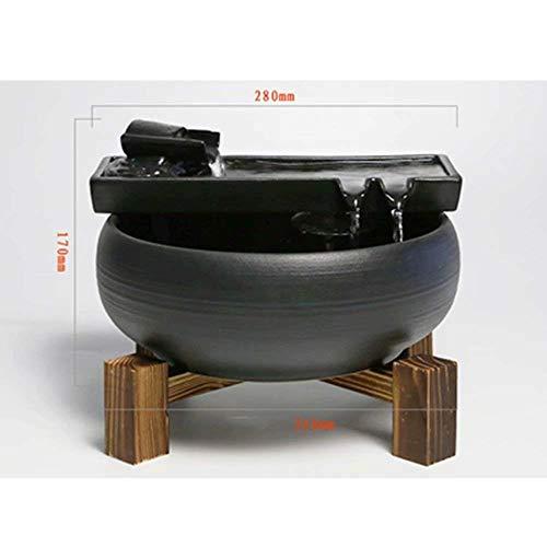 LMCLJJ 卓上噴水水噴水装飾クール屋内屋外ポータブル卓上装飾禅瞑想滝装飾キット水飾り風景加湿器 (Color : Style B)