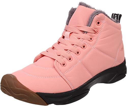 BRONAX Women Fur Lined Winter Snow Boots 2#pink