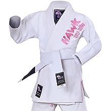 Hawk Kids Brazilian Jiu Jitsu Suit Youth Children BJJ GI Kimonos Boys & Girls BJJ Uniform Lightweight Preshrunk Pearl Weave Fabric, with Free White Belt, 1 Year Warranty!!!