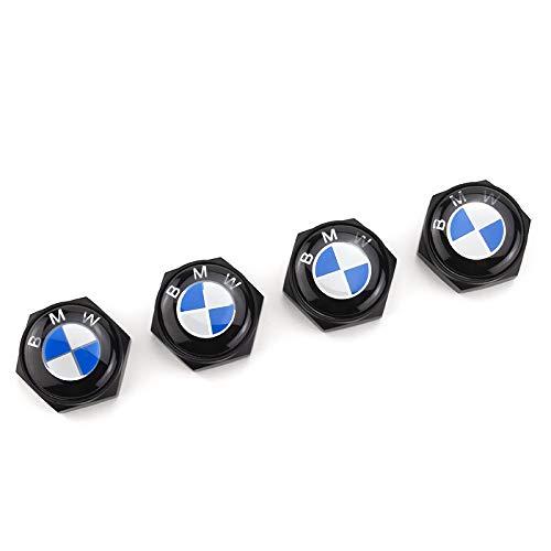 ffomo bearfire 4pcs/lot Chrome License Plate Frame Screws Caps Bolt (BMW)