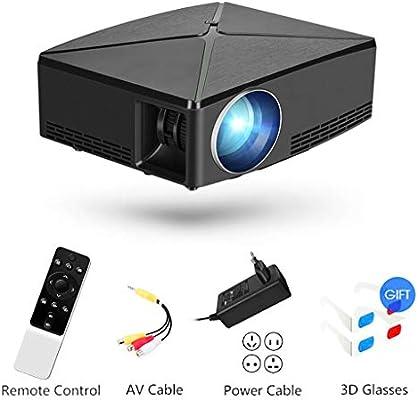 ZIHENGUO Proyector, Mini proyectores de Video portátiles con 2200 ...