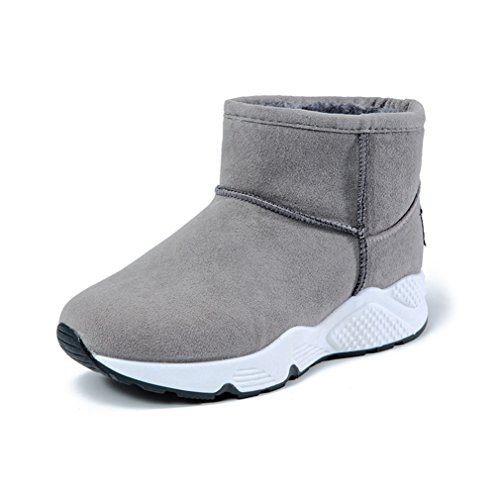 Women's Winter Fur Snow Fully Grey Ankle Lined High Sneaker Boots Warm Sports awa1FTr