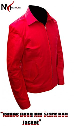 Jacket Red Dean James (James Dean - Red Rebel Without A Cause Jim Stark Replica Cordura Material Jacket)