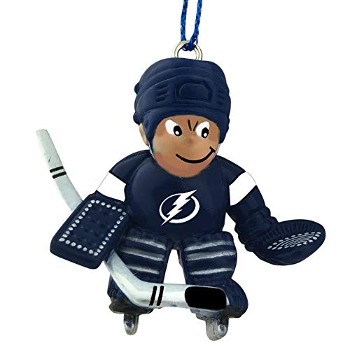 Final Touch Gifts Tampa Bay Lightning Hockey Goalie Player Christmas Ornament
