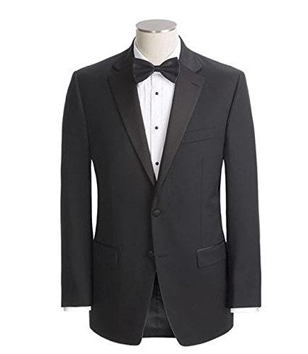 Ralph Lauren Men's Super 130's Wool Two Button Black Tuxedo - 46 Regular (Super Wool 130's)