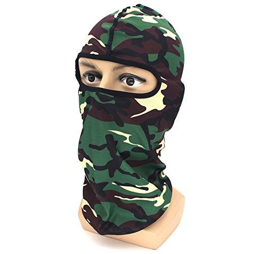 LCNINGTJ Headscarf Outdoor Riding Windproof mask Breathable Warm CS Headgear Jungle City Camouflage Warm hat Breathable Balaclava Headwrap (Color : A)