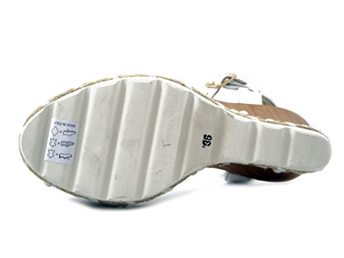 Osvaldo Zeppa Pericoli Bianco In Pelle Djp42 10cm Sandalo XX7rdq