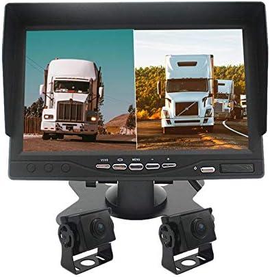 Basage Vehicle Backup Camera nd Monitor 12-24V HD 1080P Car Bus Truck Trailer RV Rear View Backup HD Camera with 7 1024 600 Monitor System Kit