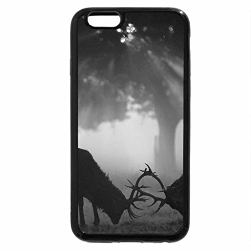 iPhone 6S Case, iPhone 6 Case (Black & White) - Morning fight