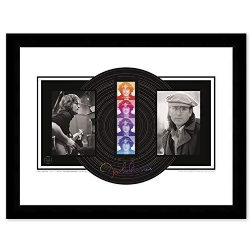 John Lennon Framed Collectible USPS Postage Stamp, 22 in x 17 in (Framed Stamp)