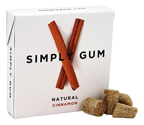 Simply Gum All Natural Gum - Cinnamon - Pack of 12 - 15 Count by Simply Gum
