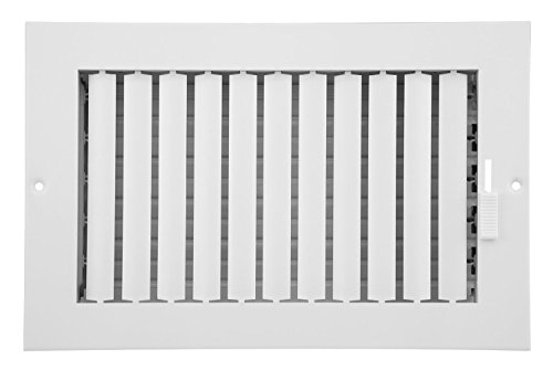 Accord Ventilation ABSWWHA104 Sidewall/Ceiling Register, 10 Inch x 4 Inch, White