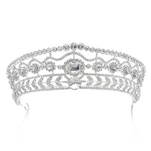 SWEETV Crystal Wedding Headpieces Accessories