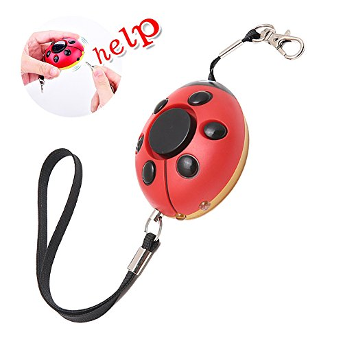 130DB Emergency Personal Security Sirens Safety Wolf Alarm Portable Self-Defense Safe sound Keychain SOS Devices With LED Flashlight Cute Ladybug-Shaped Ideal Gift For Women Kids (Black and (Ladybug Personalized Mini)