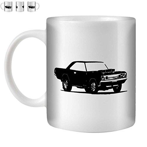 STUFF4 Tea/Coffee Mug/Cup 350ml/Black/Dart Super Stock/White Ceramic/ST10