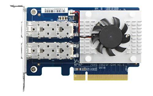 QNAP QXG-10G2SF-CX4 Dual-Port SFP+ 10GbE (PCIe 3.0 X8) Network Expansion Card (Best Media Nas 2019)