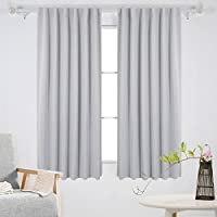 Deconovo Back Tab and Rod Pocket Curtains Blackout Curtains Thermal Insulated...