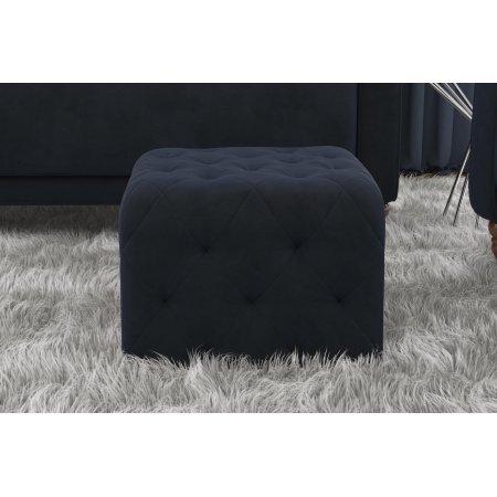 Superb Novogratz Vintage Tufted Square Ottoman Blue Velvet Buy Pabps2019 Chair Design Images Pabps2019Com