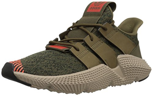 adidas Originals Men's Prophere Running Shoe Trace Olive/Solar red, 10 M US ()
