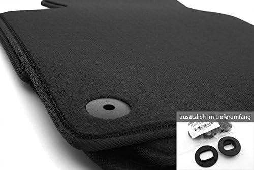 Kh Teile Fußmatten Velours Passend Für Golf 5 6 1k 5k Automatten Schwarz Inkl Befestigung Auto