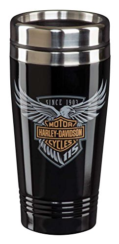 Harley-Davidson 115th Anniversary Limited Edition Travel Mug - Black HDX-98602 by Harley-Davidson