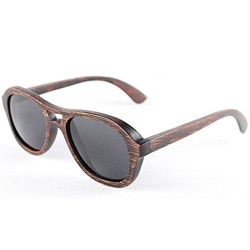 que Eyewear la de de de mano de Gafas hechas Adult madera conducen las ULTRAVIOLETA gafas sol Gafas polarizadas sol protección sol de de retro bambú los redondas Beach Sungla sol de a gafas hombres de pxwdwSXq61