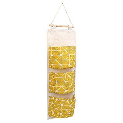 Godagoda Wall Hanging Storage Bags with 3 Pockets