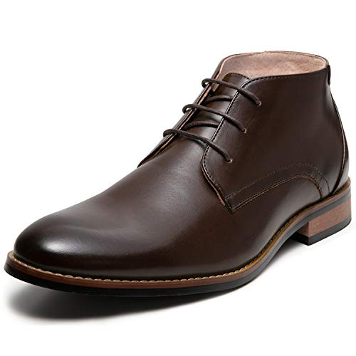 Men's Oxford Dress Leather Lined Cap Toe Angle Boots(8 M US,Brown-5)