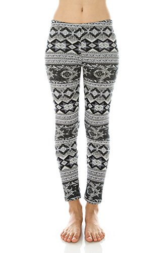 Me in California Womens Extra Soft Brushed Printed Fleece Lined Leggings One Size