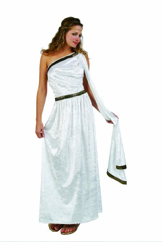 RG Costumes Women's RG Roman Toga Adult White Long Costume, One Size]()