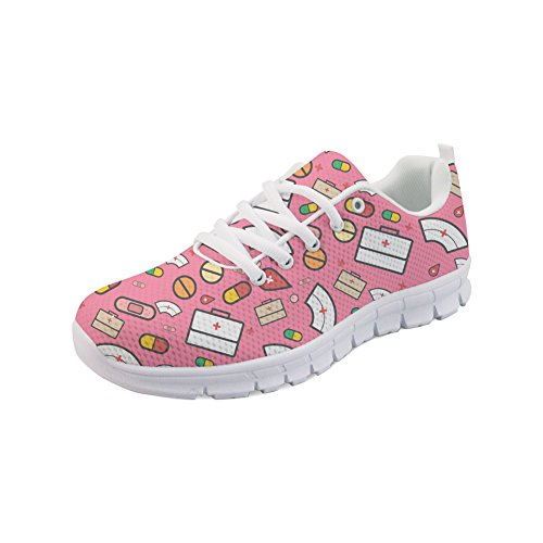 Running Cartoon Casual Womens 1 Walking Nopersonality Nurse Shoes Tennis Lightweight Sneakers wI4UxBq