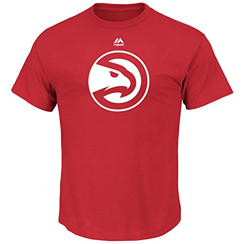 NBA Atlanta Hawks Men's Logo II Short Sleeve Basic Tee, XX-Large, Athletic Red