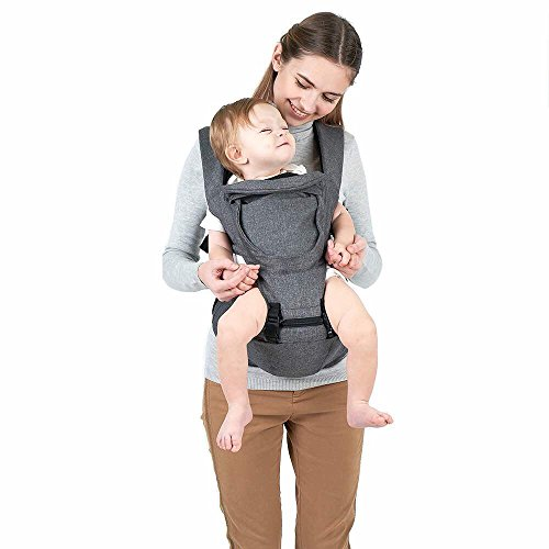 SIX-Position, Unisex 360 Ergonomic Baby & Child Carrier with Hip Seat by Baby Meerkats for All Seasons, Toddlers Carrier for Babies & Infants, Hiking Backpack, Adapts to Every Baby,All Seasons