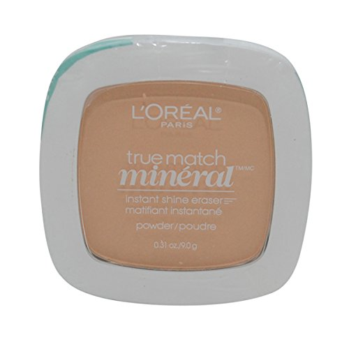 2 Pack- L'Oreal True Match Mineral Instant Shine Eraser Powder #W3/406 Nude Beige