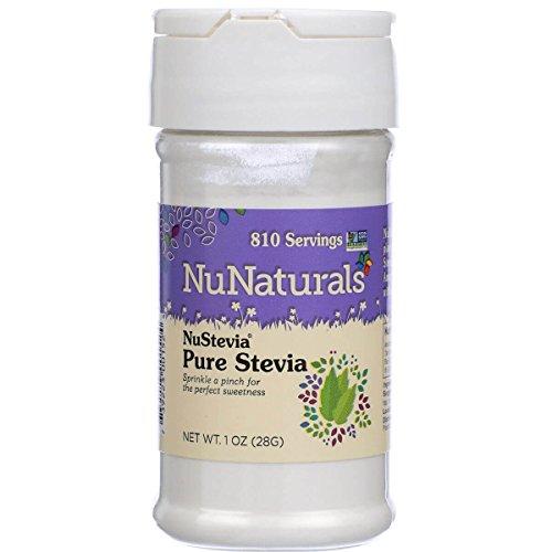 (NuNaturals Nustevia  Pure White Stevia Extract , 1-Ounce)