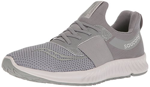 Saucony Men's Stretch N Go Breeze Running Shoe, Grey, 9.5 Medium -