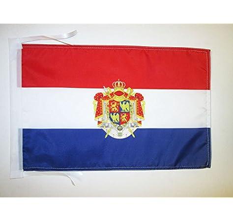 AZ FLAG Bandera del Reino DE Holanda 1806-1810 45x30cm - BANDERINA Holandesa DE Bonaparte 30 x 45 cm cordeles: Amazon.es: Jardín