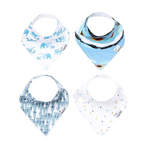 "Baby Bandana Drool Bibs for Drooling and Teething 4 Pack Gift Set For Girls or Boys ""Arctic Set"" by Copper Pearl by Copper Pearl"