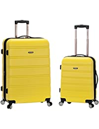 20 Inch 28 Inch 2PC Expandable ABS Spinner Set, Yellow, One Size