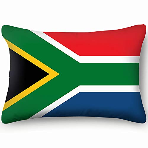 Hpink Decorative Pillow Covers South Africa Flag Education Signs Cushion Case 20 x 30 Inch 51 x 76 cm (South Chair Covers Patio Africa)