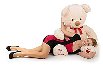 24990270 Big L. Beige Giant Large Teddy Bear 135cm Great Present Kids Gift ...