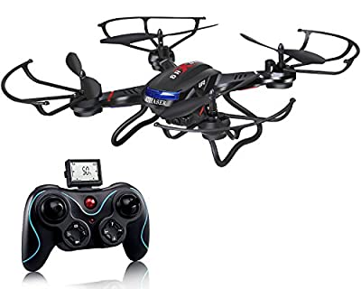 Holy Stone F181 RC Quadcopter Drone with HD Camera RTF 4 Channel 2.4GHz 6-Gyro Headless System Black (Upgraded with Altitude Hold Function) by Holy Stone