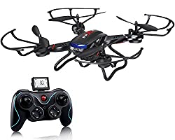 Holy Stone F181c Rc Quadcopter Drone With Hd Camera Rtf 4 Channel 2.4ghz 6-gyro With Altitude Hold Function,headless Mode & One Key Return Home, Color Black