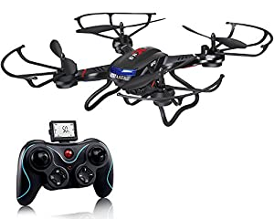 Holy Stone F181 RC Quadcopter Drone with HD Camera RTF 4 Channel 2.4GHz 6-Gyro Headless System Black (Upgraded with Altitude...
