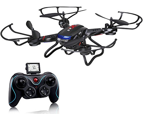 - Holy Stone F181C RC Quadcopter Drone with HD Camera RTF 4 Channel 2.4GHz 6-Gyro with Altitude Hold Function,Headless Mode and One Key Return Home, Color Black